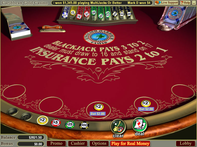 free casino table games online